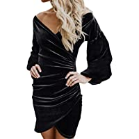LOSRLY Women Crew Neck Long Sleeve Cable Knit Bodycon Sweater Midi Dress