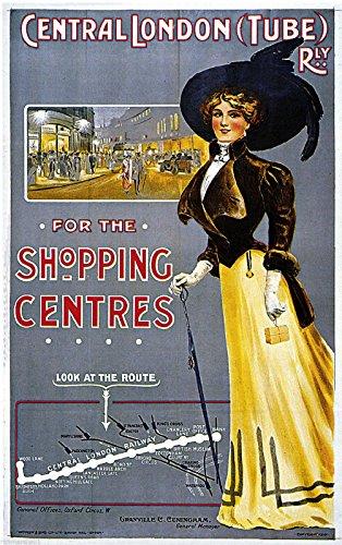 MAGNET 1908 Central London Railway England Art Travel Advertisement Magnet Print ()