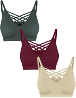 77fe16d43ce Crisscross Seamless Padded Bralette – Caged Cami Top with Removable Pads  Regular to Plus Size