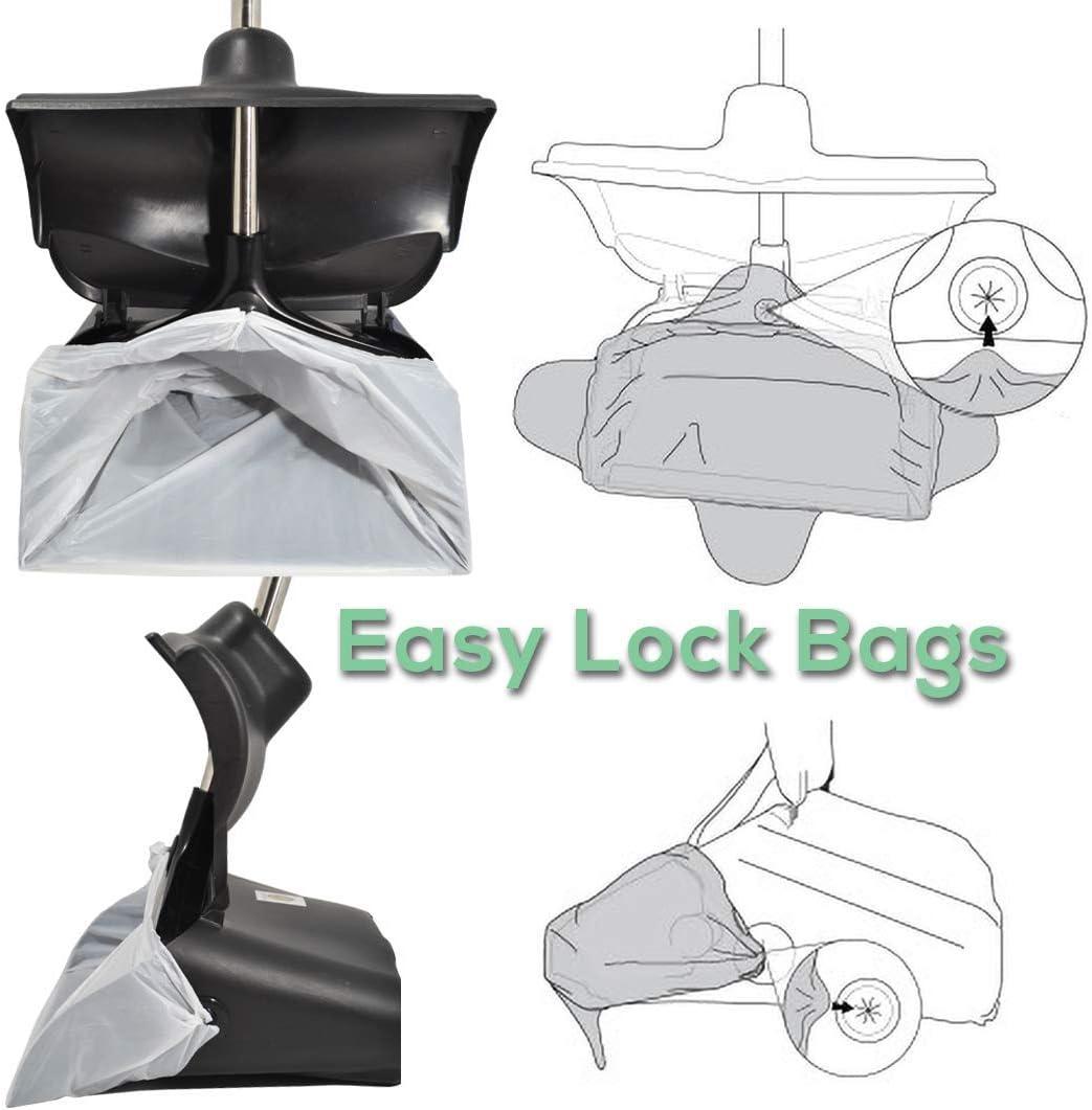Hygena Scoop Odor Blocking Swivel Bin /& Long Handle Stainless Steel Rake Large Pooper Scooper for Clean Pet Waste Removal