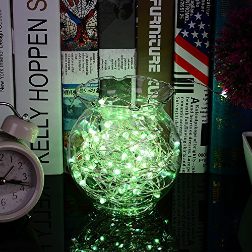 LED Fairy Lights 33ft 100 LEDs Battery Operated String Lights Waterproof Multi Color Changing, Firefly Lights with Remote Control for Indoor,Outdoor,Bedroom,Patio,Wedding,Party Christmas Decorations by Omika (Image #4)
