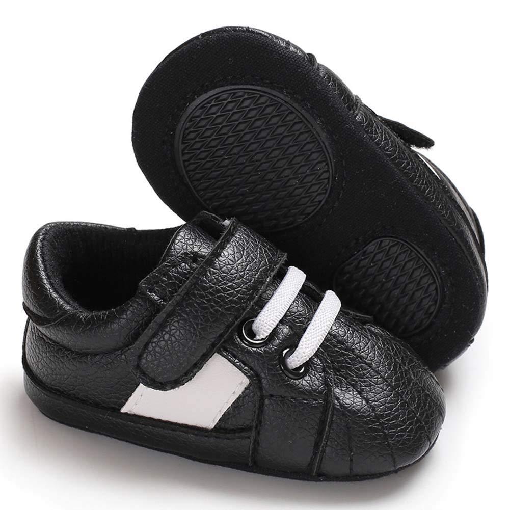 Baorong Baby Boys Girls Pu Leather Soft Sole Sneaker Toddler Prewalker