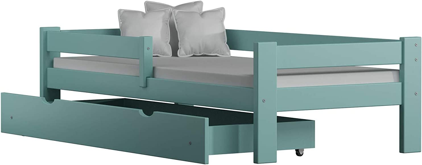 Willow no Drawers no Mattress Included 160x80, Pink Childrens Beds Home Solid Pine Wood Single Bed