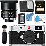 Leica M10 Digital Rangefinder Camera (Silver) Elmar-M 24mm f/3.8 ASPH. Lens + 64GB SDXC Card + Card Reader + Deluxe Cleaning Kit + MicroFiber Cloth Bundle