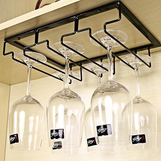 Estante colgante para copas de vino de Metal con rieles 3 30 * 22.5 * 5.5cm sostiene copas de vino y copas de cristal Soporte para Copas
