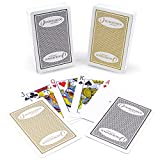 KEM Authentic Horseshoe Casino 100% Plastic Playing Cards Dual-Deck Set, Standard Index, Bridge Size