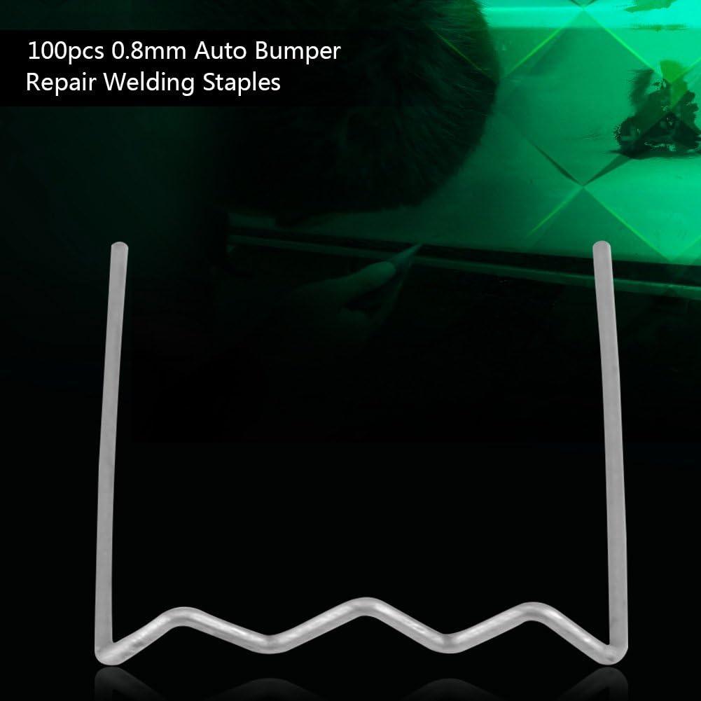 3 tipos disponibles 100pcs 0.6mm de herramientas de reparaci/ón de parachoques auto acero inoxidable EstiloS Kit de herramientas de reparaci/ón de grapas de soldadura