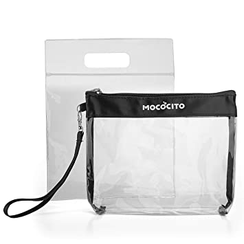 8105ce0b1e MOCOCITO Clear Toiletry Bag with 1 Flight Air Bag (20cm x 20 cm) Approved