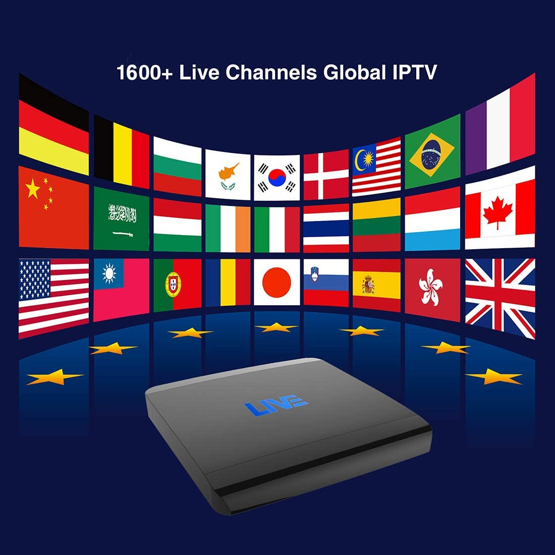 Livebox IPTV Receptor 1500 + Global Live Channels de Asia América Europa Arabic Brasil, sin Costo mensual / Anual: Amazon.es: Electrónica