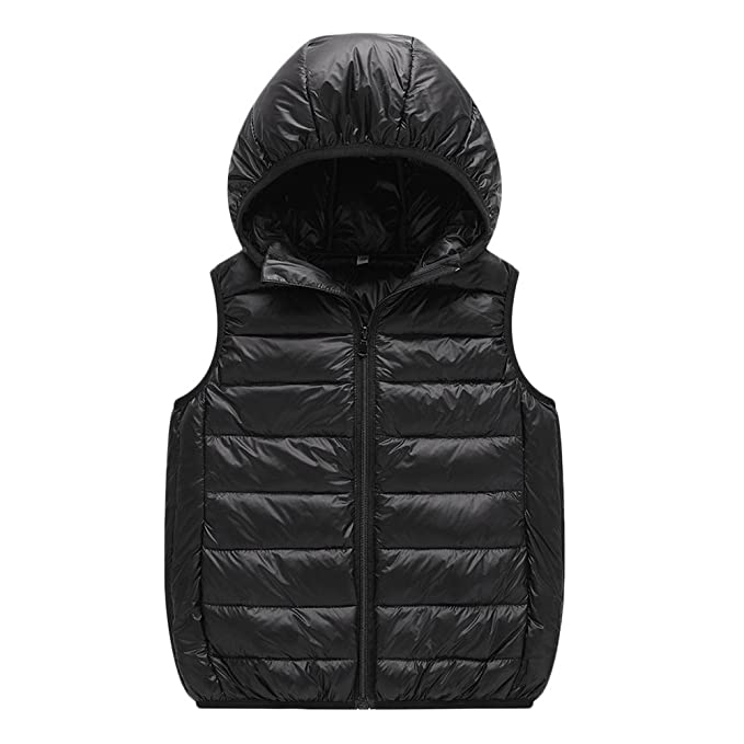 e8033e57e6e Zhhlinyuan Winter Kid Girls Hooded Down Vest Children Sleeveless Jacket  Waistcoat: Amazon.ca: Clothing & Accessories
