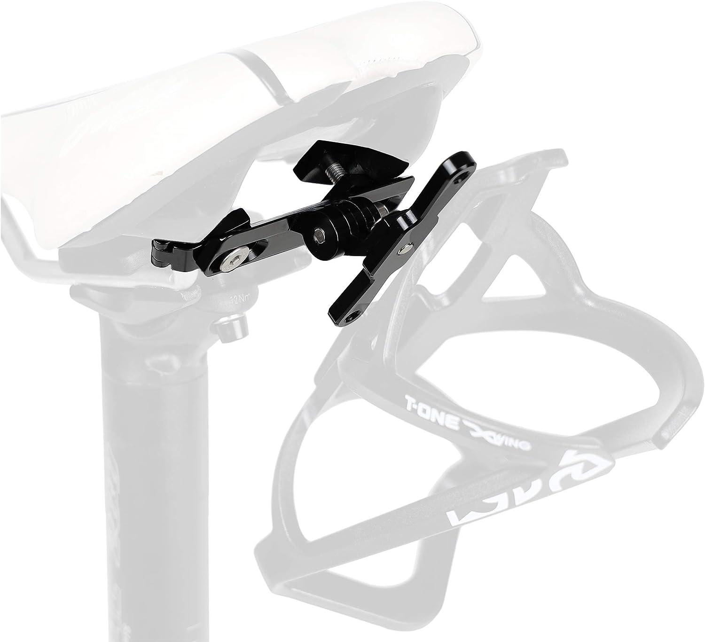 CyclingDeal Bike Bicycle Seat Saddle Water Bottle Cage Holder Mounting Bracket - Saddle Rear Rail Adapter