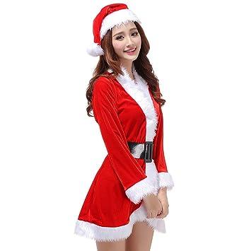 Tinksky 3pcs para Mujer Disfraz de Papá Noel de Navidad ...