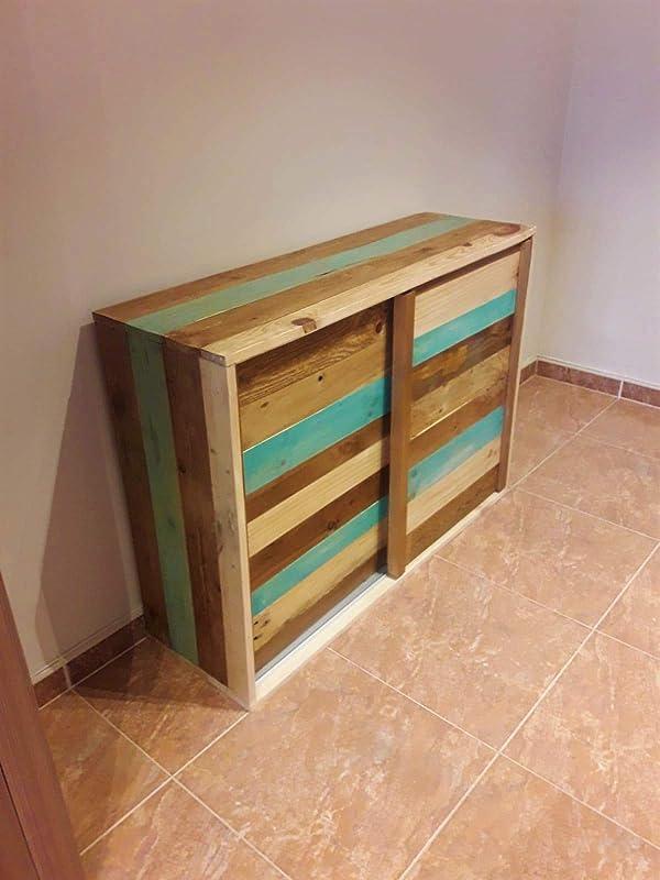 Zapatero madera reciclada puertas correderas: Amazon.es: Handmade