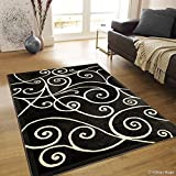 Allstar 8 X 10 Grey Abstract Modern Area Rug (7′ 10″ X 10′ 2″) Review