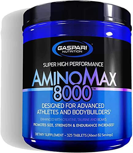 Gaspari Nutrition Amino Max 8000 Amino Acids Tablets Supplement Whey Protein Concentrate Hydroslysate
