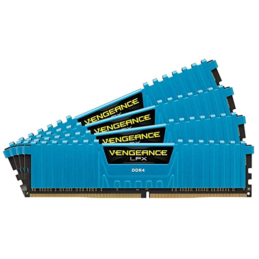 612 opinioni per Corsair CMK16GX4M4A2666C16B Vengeance LPX Memoria per Desktop da 16 GB (4x4 GB),