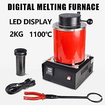 4YANG horno fundicion, 2KG 1100℃ Horno digital automático de ...