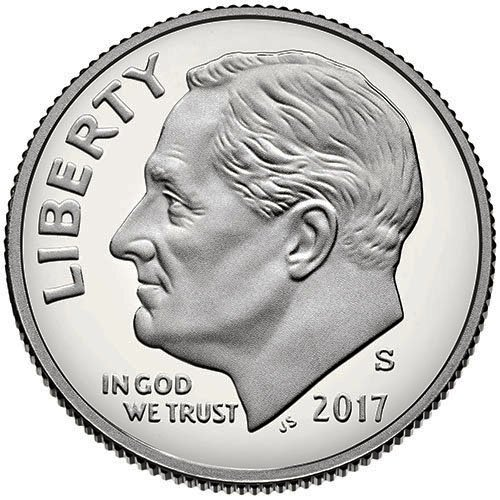 (2017 S Silver Proof Roosevelt Dime Choice Uncirculated US Mint)
