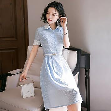 WJP Vestido de verano camisa vestido femenino verano largo ...