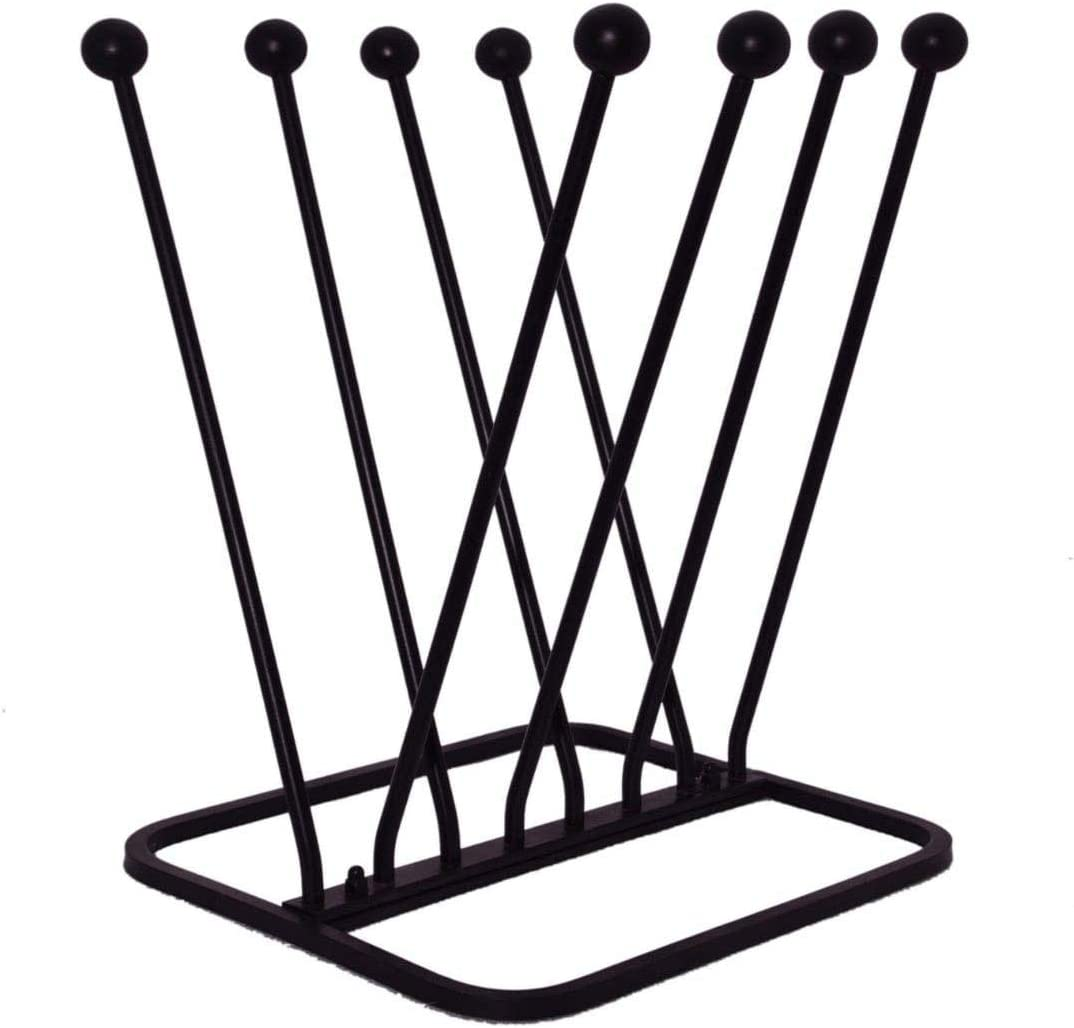 ARSUK 4 Pair Welly Boot Rack Holder, Walking Boot Shoe Stand, Metal for Indoor & Outdoor Use (Need to Assemble Before Use)