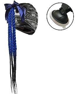 namecute Casco trenzado variadas Ombre Color con lazo Casco cola de caballo con extraíble ventosa Up