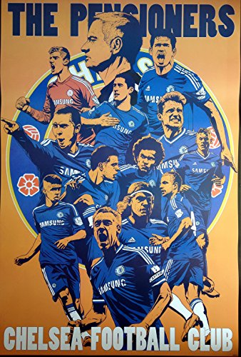 """88032-M FC Chelsea Soccer Football 2014-2015 Sport Wall Decoration Poster Size 23.5""""x35"""""""