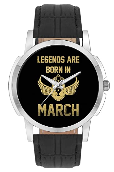 BigOwl March Birthday Gift For Him Analog Mens Wrist Watch