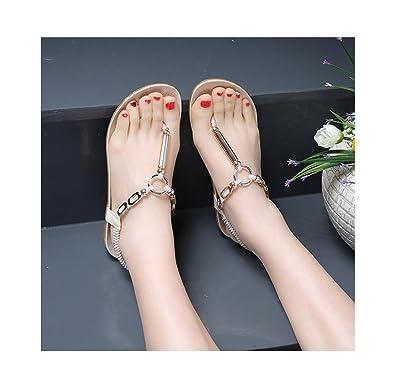 04f4ec83beccf4 Fullkang Women s Elastic Strappy String Thong Ankle Strap Summer Sandals (US  5