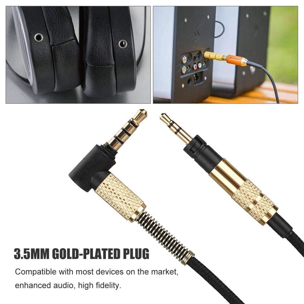 c/âble de Conversion pour Casque Compatible avec la Plupart des appareils du march/é Tosuny C/âble Audio c/âble Audio dextension Droit m/âle coud/é 3,5 mm /à 2,5 mm