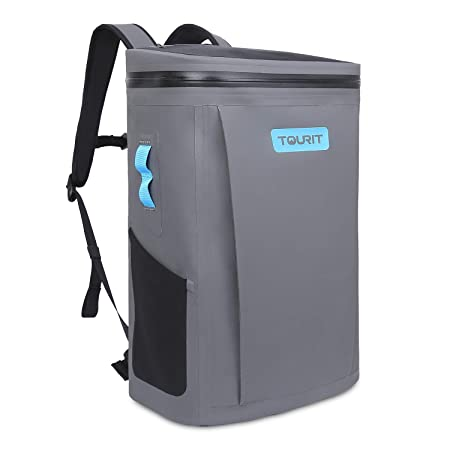 TOURIT Backpack Cooler Waterproof Dry Bag All-Purpose Soft Sided Cooler Bag Lightweight Cooler Backpack for Kayaking, Beach, Rafting, Boating, Hiking, Camping and Fishing