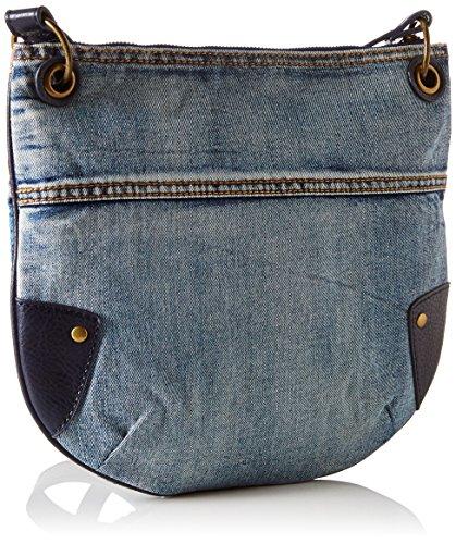 Desigual BOLS_BROOKLYN Exotic Jean, Bolso Bandolera para Mujer, Azul (5001), 1x28x32 cm (B x H x T)