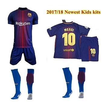 free shipping f50b1 b4735 Barcelona 2017/18 Youths Home Kit Shirt & Shorts & Socks ...
