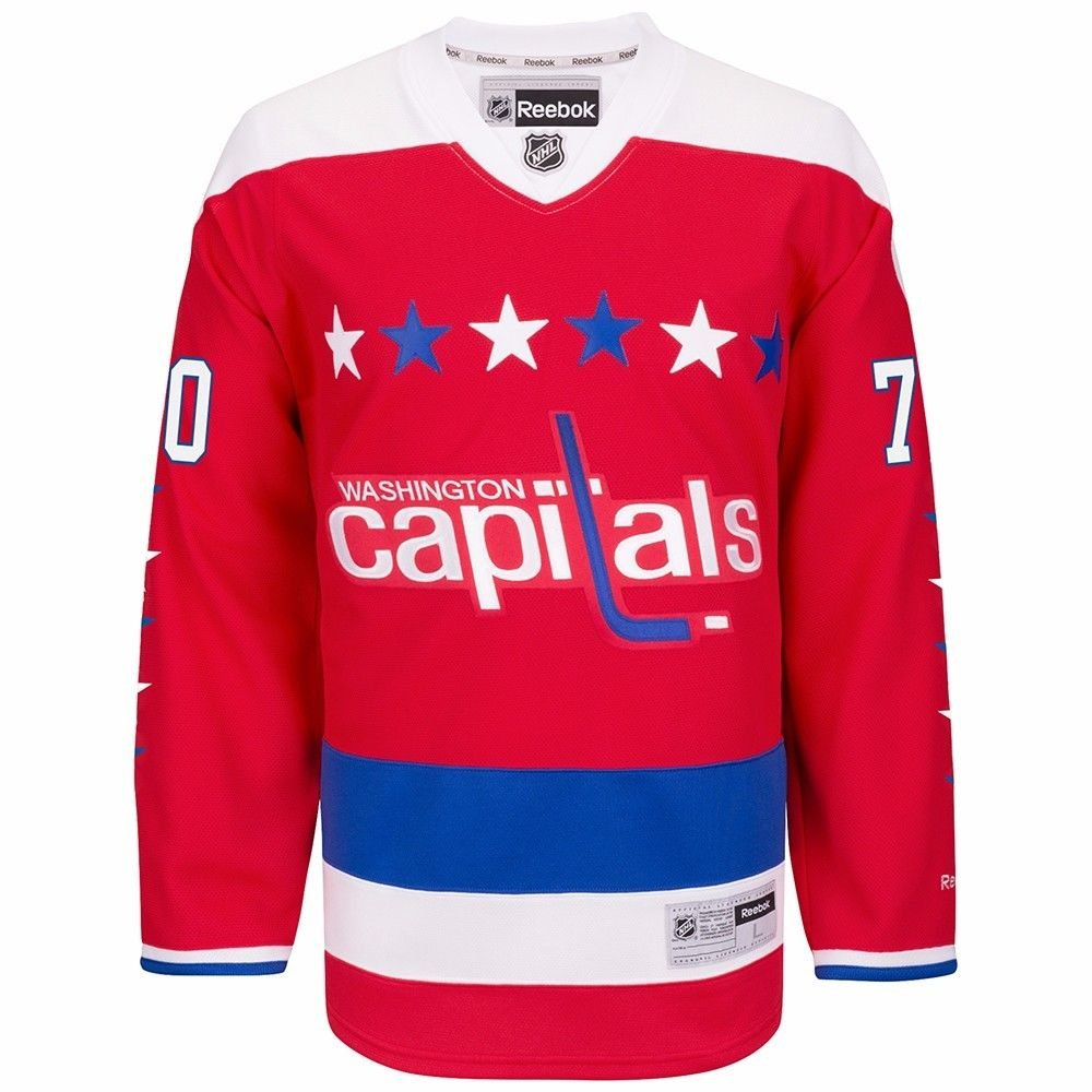 classic fit 58dbe 25d97 Washington Capitals #70 Braden Holtby Reebok Red Alternate ...