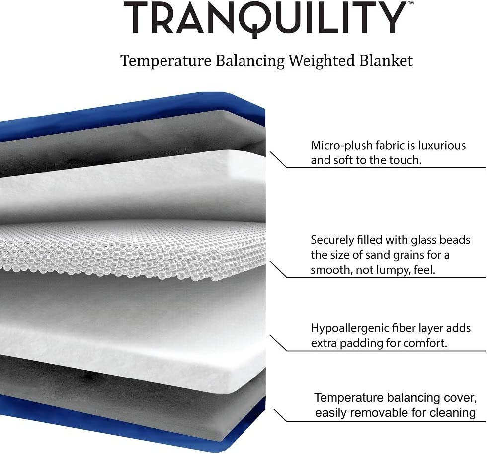 Tranquility Kids Weighted Blanket ● Blue ● 6 lbs