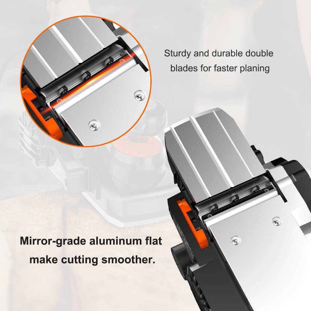 Cepillo El/éctrico Madera LOMVUM 750W Cepilladora El/éctrica Capacidad de Cepillado: 82x3mm Velocidad 0-16500 minˉ/¹