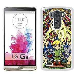 Popular Custom Designed Cover Case With Legend Of Zelda White For LG G3 Phone Case