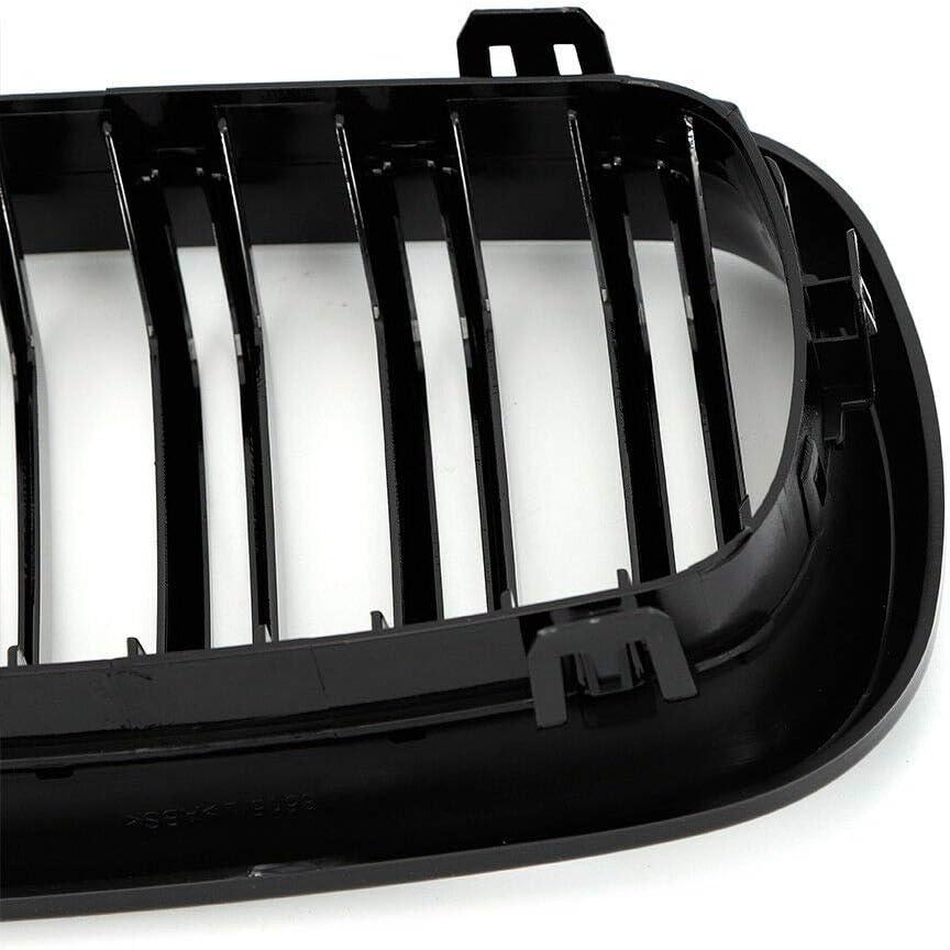 MINUS ONE Grille de calandre Double Marche Avant en Plastique ABS pour 2013-2018 X5 X6 F15 F16 Noir