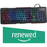 (Renewed) Cosmic Byte CB-GK-02 Corona Wired Gaming Keyboard, 7 Color RGB Backlit with Effects, Anti-Ghosting (Black)