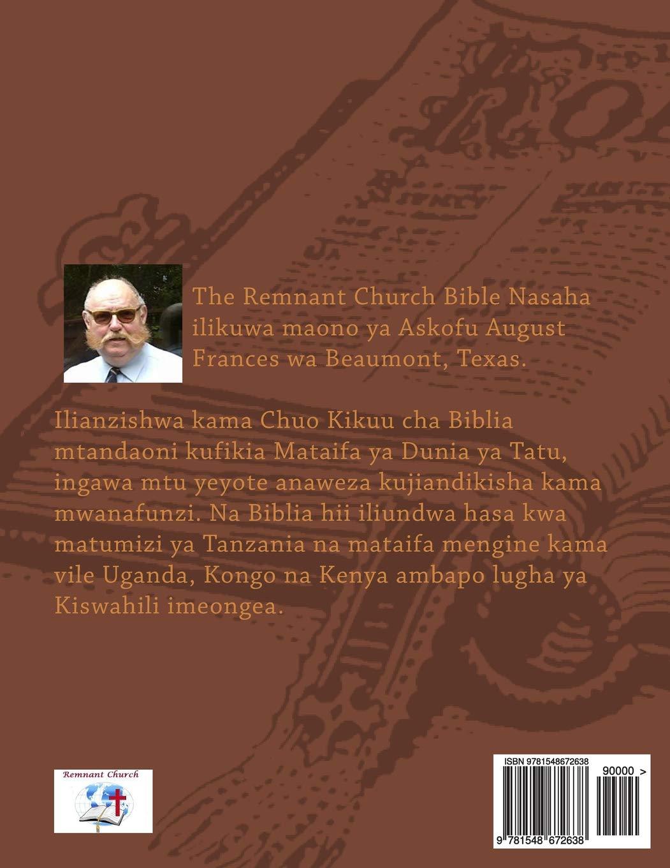 Biblia Takatifu Bible In Swahili Swahili Edition Mackie William K 9781548672638 Amazon Com Books