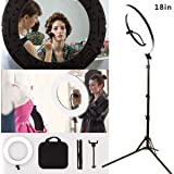 """GSKAIWEN 18"""" 60W LED Ring Light Kit Dimmable Camera Photography Studio Video Light with Battery Slot for Makeup Portrait YouTube Video Outdoor Shooting (18-inch Kit)"""