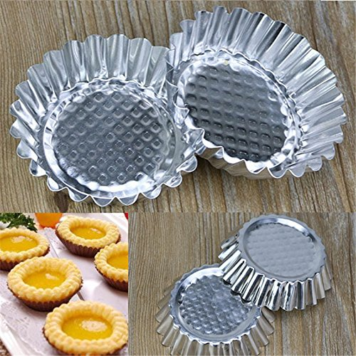 (Baking Tools - 20pcs Lot Egg Tart Aluminum Cupcake Cake Cookie Mold Pudding Mould Tin Baking P0.21 - Wilton Beginners Tools Adults Napkins Rolling Gift Decorating Gadgets Tulip Russian Dogs )