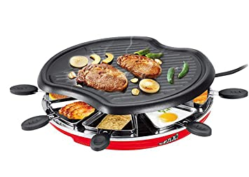 Parrilla eléctrica de BBQ con 8 mini sartenes forma de ...