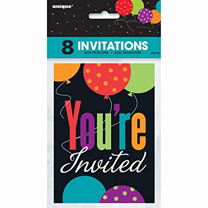 Amazon Com Birthday Cheer Party Invitations 8ct Kitchen Dining