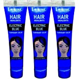 Lilium Herbal Hair Highlights Electric Blue Temporary Color 20gm