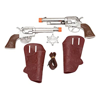 Jacobson Hat Company Sheriff Set with Guns, Holster, Badge: Toys & Games