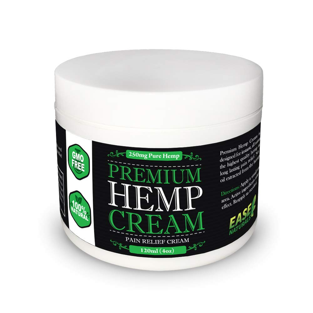 Premium Organic Hemp Extract Cream for Pain Relief - 250mg of Hemp Extract - All Natural - Arthritist Relief, Knee Pain, Muscle Pain, Back Pain, Joint Pain, and More.