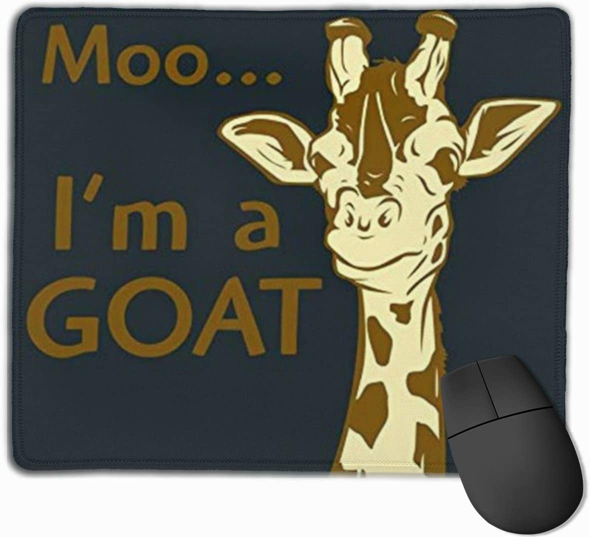 Moo Im A Goat Personalized Mouse Pads with Stitched Edges Non-Slip Rubber Base Extended Gaming Mouse Mat for Computer Laptop PC Office/&Home Mousepad 9.8 X 11.8 Inch
