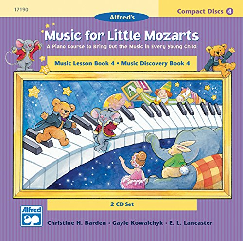 Music for Little Mozarts 2-CD Sets for Lesson and Discovery Books: A Piano Course to Bring Out the Music in Every Young Child (Level 4), 2 (2 Cd Set Music Book)