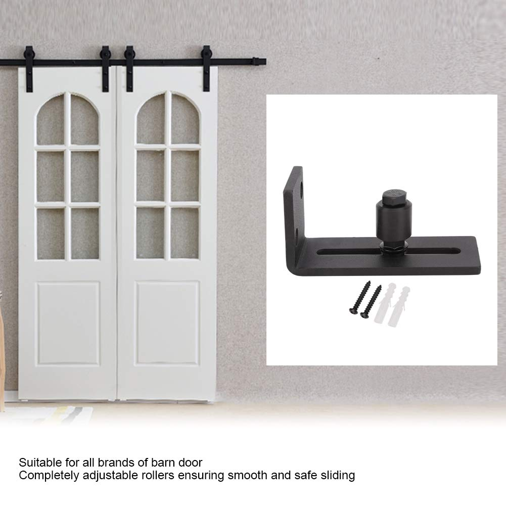 Neufday Guida a Pavimento Scorrevole Regolabile in Acciaio al Carbonio Accessori Hardware per Porte da fienile Single Roller
