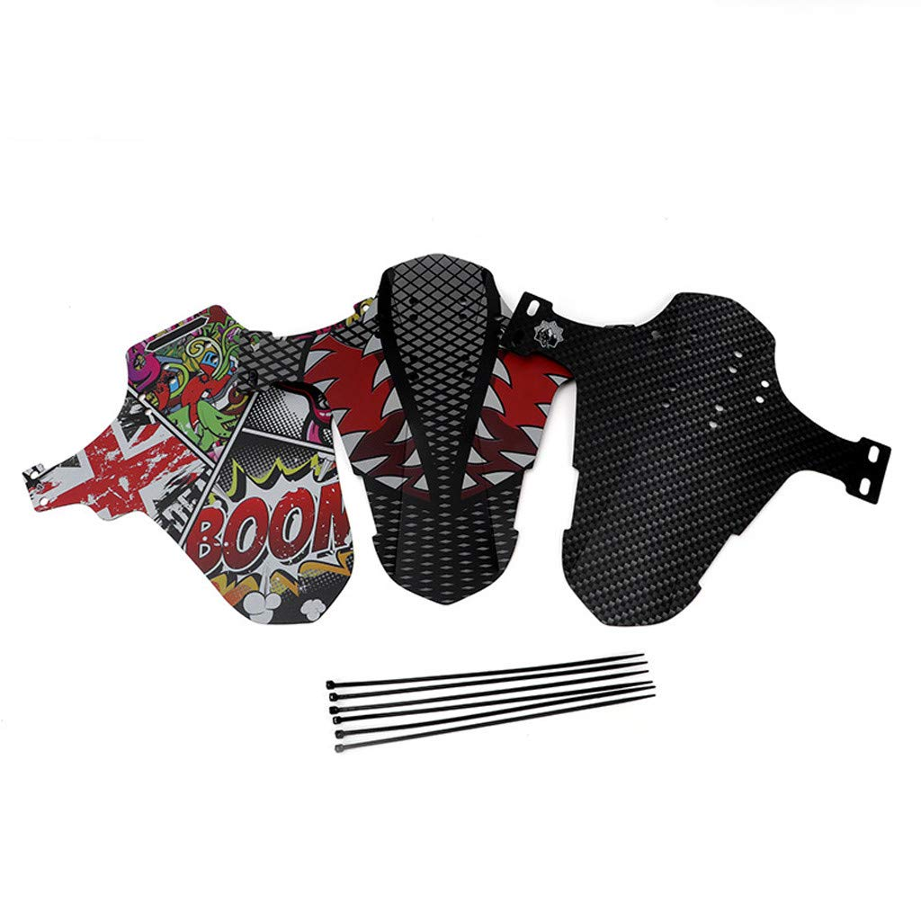 Mountain Bike Fender Mud Guard MTB Adjustable Downhill Mud Guard Front and Rear Compatible Bicycle Fender 1PC A